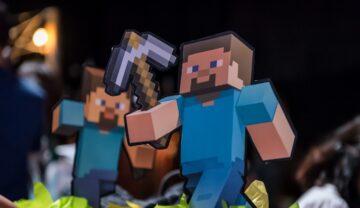Numeroase trucuri Minecraft sunt folosite de jucători în fiecare zi. Personaj Minecraft pe fundal negru